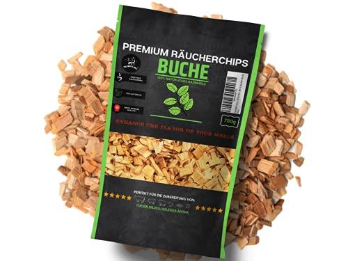 THE WHITE BULL TOTAL PROTECT ESTD 1986 Premium Räucherchips Smoking Chips für Gasgrill, Holzkohlegrill, Elektro Grill, Grill Zubehör zum Grillen & Räuchern - Holzhackschnitzel/Räucherholz (Buche)