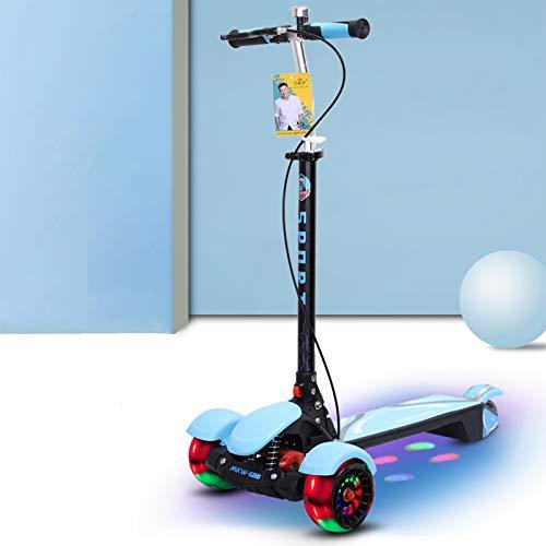 JXILY Scunt Scooters, Freno De Mano + Freno De Pie, con Spray del Pedal De Los Niños, PU Flash Wheel Kick Scooter, Scooter De Juguete para Niños