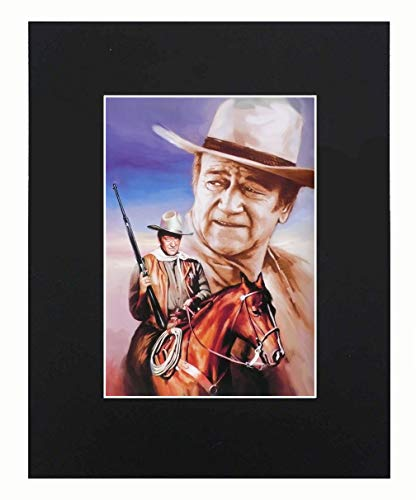 John Wayne Portrait Art Artworks Print Picture Photograph Poster Gift Wall Decor Display Size with Matted 8x10