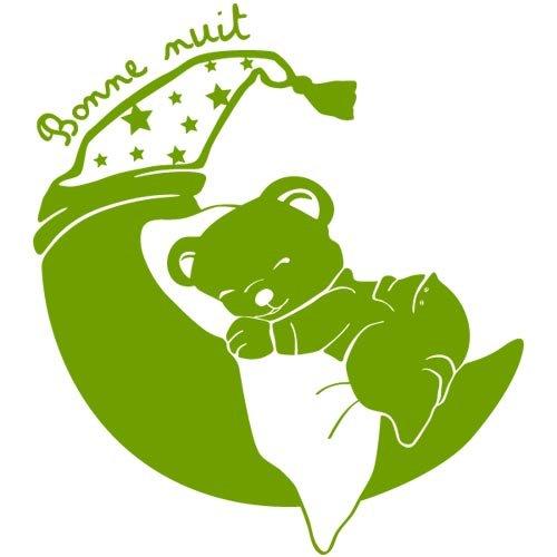 sticker petit ourson rêveur Vert du Sud 85x95 cm