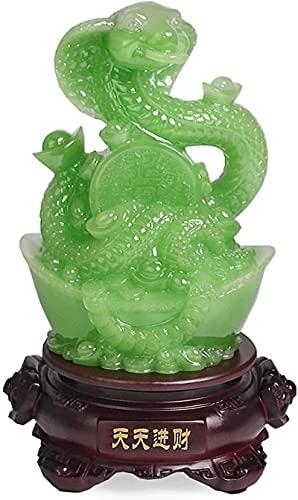 MXCHEN China Feng Shui Estatua Zodiac Snake Decoration Collection Statue, Sala de Estar Mueble de Vino Oficina Decoración de Escritorio