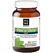Pure Essence Labs One N Only Multivitamin for Men - Natural One a Day Herbal Supplement with Vitamin D, D3, B12, Biotin - 90 Tablets