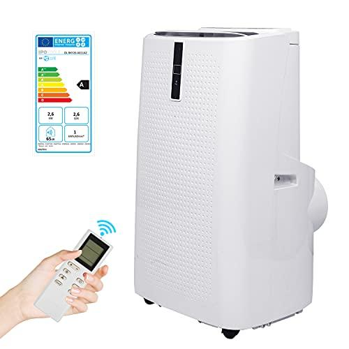 VINGO Smart WiFi Klimaanlage Mobiles Klimagerät 5in1 Heizlüfter,kühlen, Luftentfeuchter, lüften,12.000 BTU/h 3,5 KW Klima mit Montagematerial Fernbedienung und Timer Nachtmodus,Weiß EEK: A