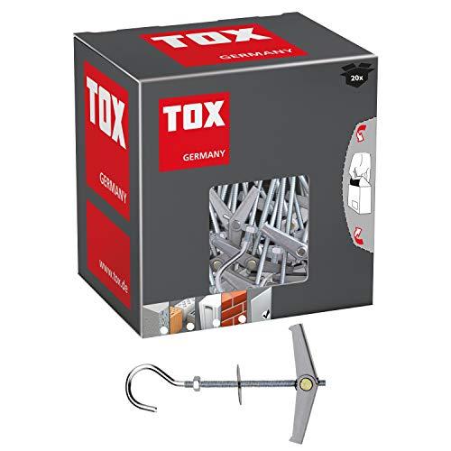 TOX Federklappdübel Pirat Eddi M4 mit Haken, Inhalt 20 Stück, 024100171