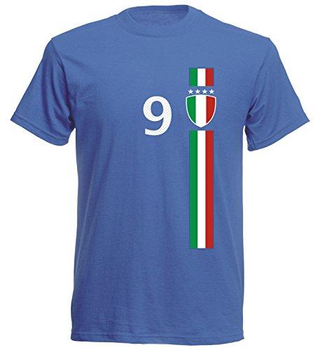 Italien Kinder T-Shirt Trikot St-1 EM 2016 - blau Italia Kids (140)