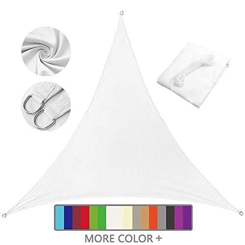Nevy - Esterno Triangolare Vela Ombreggiante Tenda a Vela, 98% Protezione UV Vela Tenda, Impermeabile per Esterni, Cortile, Giardino,Campeggio (Color : White, Size : 3x3x4.3)