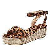 Yvelands, para Mujer, Correa para el Tobillo, Hebilla, Plataforma, cuñas, Sandalias Tejidas, Zapatos Romanos(Multicolor,37)
