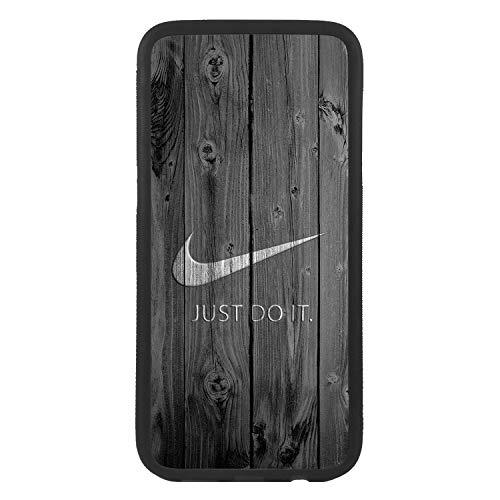 afrostore Funda Carcasa de móvil para Apple iPhone 5c Logotipo Nike simula Puerta Logo TPU Borde Negro