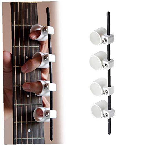 sjqc9561 Gitarre Finger Exerciser Gitarre Finger Stretcher Span Praxis Muskel-übungs-Werkzeug Für Anfänger Geeignet (weiß)