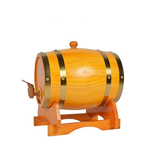 HJJT Madera Vino Barril, Dispensador Mesa dispensador de Vino 30L Dispensador del Barril de Vino de la Madera de Roble del Vintage para el Puerto del Ron del Whisky de la Cerveza