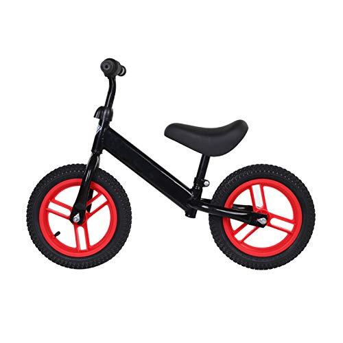 CJW-LC Laufrad Für Kinder, Kein Pedal Kinderlaufrad 12 Zoll Aufblasbare Räder Höhenverstellbarer Sitz Und Lenker, Rahmen Aus Hohem Kohlenstoffstahl, Für Alter Von 2-6 Jahren,D