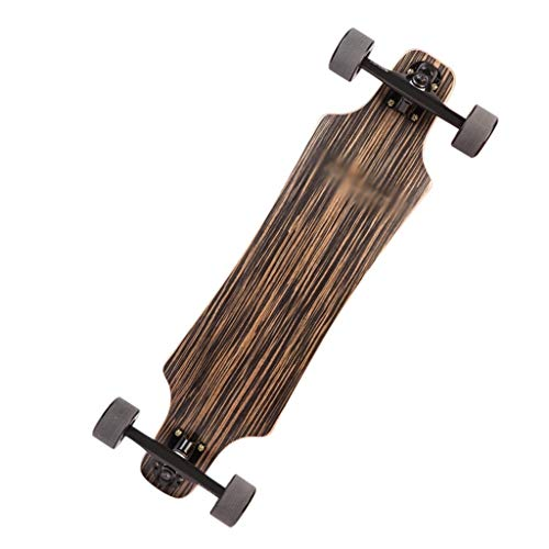 ZXC Home Planche à roulettes for Sports de Plein air, Long Board Mini Long Board Rue Brosse Planche à roulettes, 2 Couleurs en Option (Color : Black)