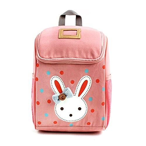 JameStyle26 Rabbit Bunny Kinderrucksack Kindergarten Tornister Häschen Rucksack Schultasche Backpack Mädchen Junge (Rosa)