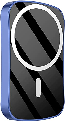 15w Magnetic Power Bank 10000mah, 20wpd Mobile Phone Fast Charger, Used for Backup Power Supply, Compatible with iPhone 13/13mini/pro/max/12 Mini (10000mAh,Blue)
