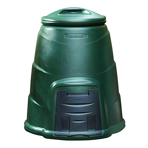 Oipps 220 Litre Green Garden Composter Compost Converter Bin 100% Recycled Plastic HDPE