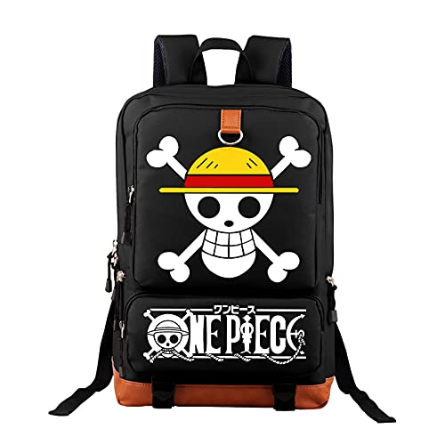 Zusvus Anime Ones Pieces Travel Laptop Backpack,Large Capacity Durable Laptops Compartment Backpack, College Campus Computer Bag Gifts for Men and Women Fits 15.6 Inch Notebook
