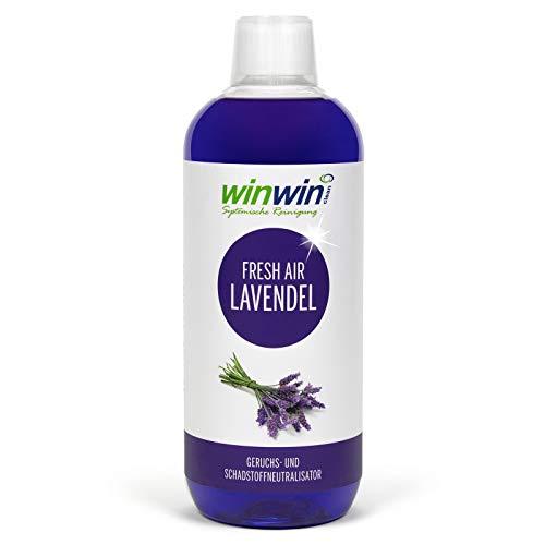 winwin clean Systemische Reinigung - Fresh Air Concentré de purification de l'air à la lavande 1000 ml I également idéal pour une utilisation dans le proWIN Air Bowl.