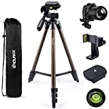 Endurax Camera Tripod for Canon Nikon DSLR, 60 Inch Video Camera Tripod Stand with Universal Phone Adapter, Level Bubble, Carry Bag (Lightweight & Sturdy Aluminum)
