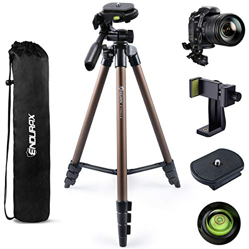 Endurax Camera Tripod Compatible with Canon Nikon DSLR, 60 Inch Tripod for Camera Phone with Universal Holder, Carry Bag