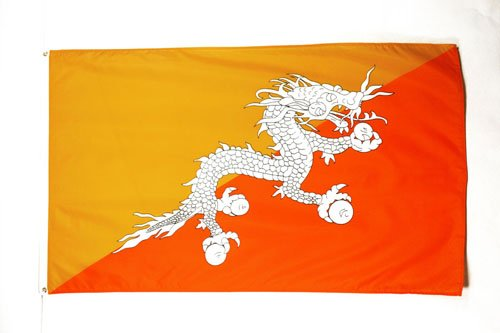 AZ FLAG Flagge Bhutan 150x90cm - KÖNIGREICH Bhutan Fahne 90 x 150 cm - flaggen Top Qualität