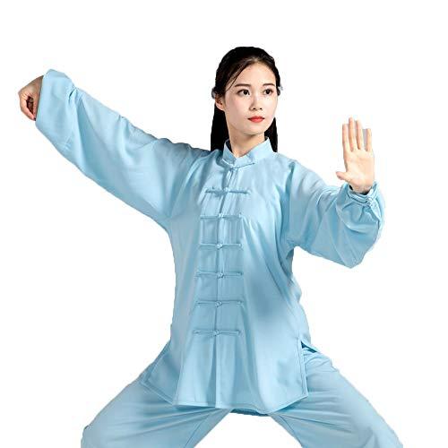 FHKL Tai Chi Kleding Vrouwelijke zomerjurk Heren Katoen en zijde Martial Arts Ochtendgymnastiek Set