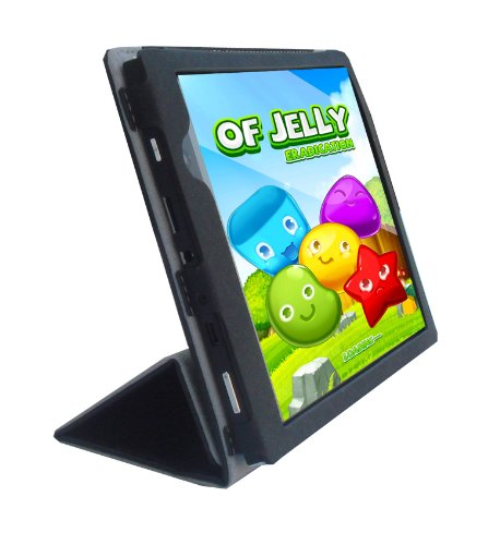 iShoppingdeals - for Le Pan Mini 8' Tablet (Model TC802A Only) Folding Folio Cover Case, Black