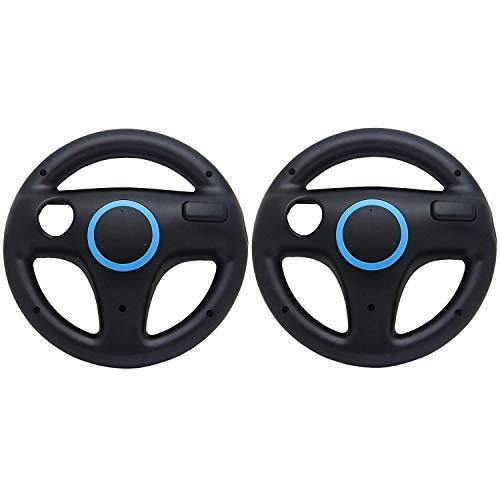 Expresstech @ Lenkrad Wheel 2Pcs Lenkräder Racing Wheel SET Nintendo Wii WII U Schalter Joy-Con Joycon Controller Gamepad controller Joy Cons Mario Kart - Schwarz