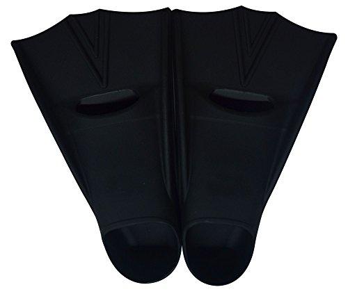 Paracity (TM) Palmes de natation en gel de silice court Entraînement adultes pour femme/homme/enfants Piscine ou plage, noir, UK 1-3 length:29CM
