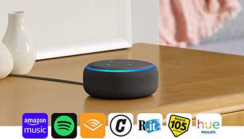 Echo Dot (3ª generazione) Ricondizionato Certificato - Altoparlante intelligente con integrazione Alexa - Tessuto antracite