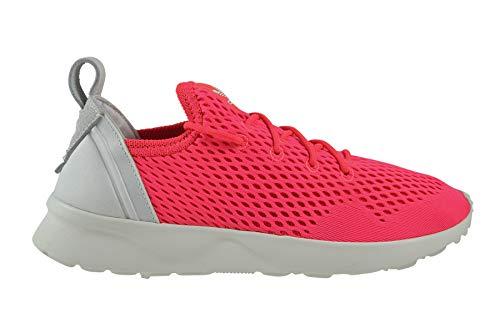 adidas ZX Flux ADV Virtue EM - Zapatillas de deporte para mujer, color blanco, color Rojo, talla 38 2/3 EU