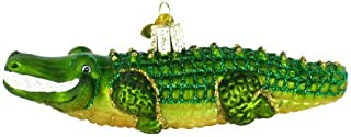 Old World Christmas Ornaments: Sea and Water Animals Glass Blown Ornaments for Christmas Tree, Alligator