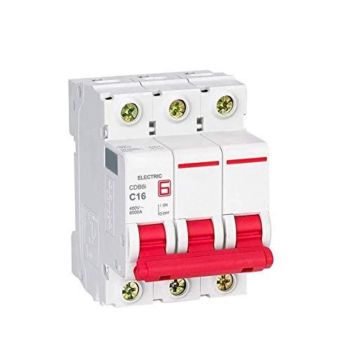 Disyuntor doméstico Interruptor miniatura CDB6I MCB 3P 230 / 400V AC 1A 2A 3A 6A 10A 16A 20A 25A 32A 40A 50A 63A Mini interruptor 50HZ / 60Hz MCB C CE-3_16A-63A_3