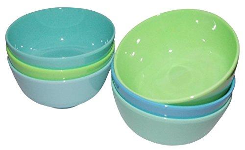 RICE Dip Schalen Melamin klein Blau und Grün 6er Set