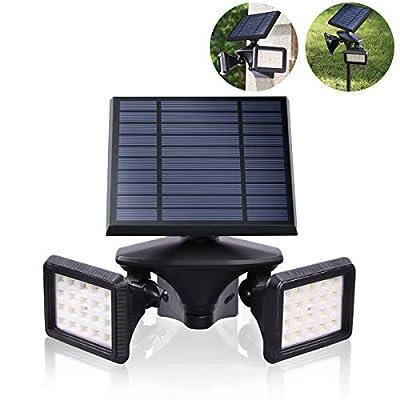 Motion Sensor Solar Light Outdoor, Dusk to Dawn Wireless Security LED Flood Light, 6000K 40LEDs Very Bright, 2-in-1 Solar Powered Landscape spot Lights Waterproof for Garden/Driveway/Porch, EMANER
