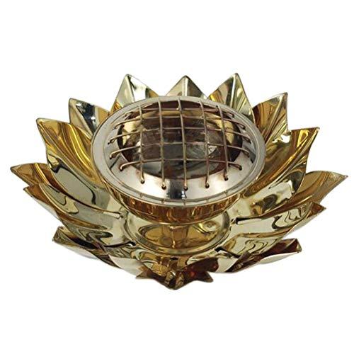 Porte encens à charbon Lotus en laiton