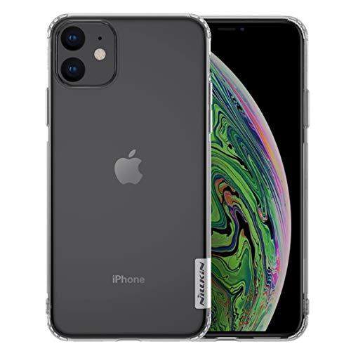 Nillkin - Custodia Compatibile con iPhone 11 Nature Series Silicone Flessibile Shock-Absorption e Anti-Scratch Cover di Protezione Antiscivolo Ultra Sottile - Trasparente