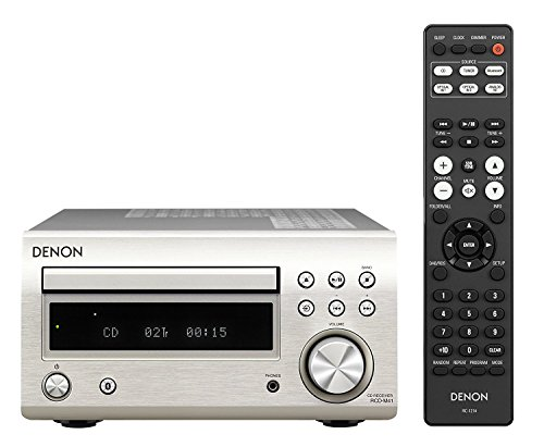 Denon RCD-M41 SIL tuner met CD, Bluetooth en radio grijs