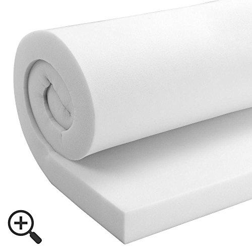 startextile® Plaque ferme de mousse haute densité pour rembourrage, facile à découper pour sièges / canapé / lit pour chien / matelas, 69 x 69 x 7.5 cm