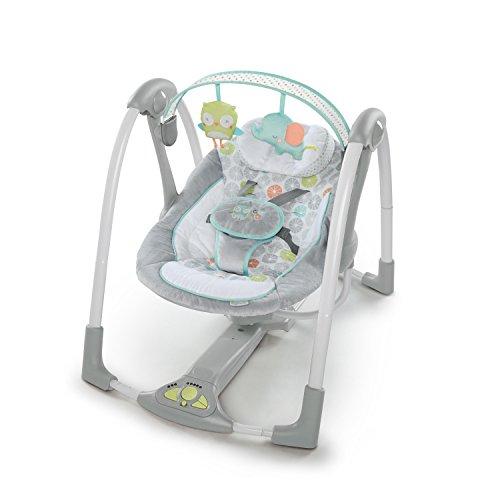 Ingenuity Swing 'n Go Portable Baby Swings – Hugs & Hoots (10247)