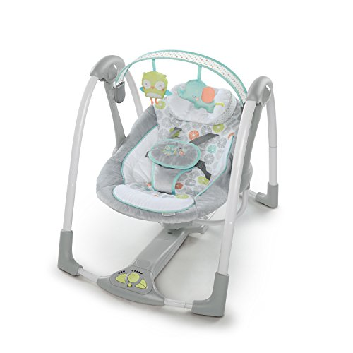 Ingenuity Swing 'n Go Portable Baby Swings - Hugs & Hoots (10247)