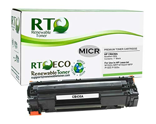 Renewable Toner Modified MICR Toner Cartridge Replacement for HP CB436A 36A Laserjet M1522 M1120 P1505