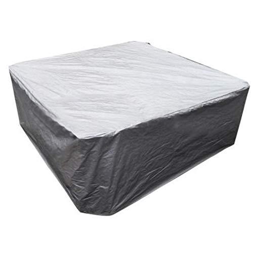 YXNN Juego de fundas para muebles de patio, para exteriores, resistente al viento, lluvia, nieve, polvo, viento, seccional, duradero, color plateado, tamaño: 240 x 240 x 85 cm