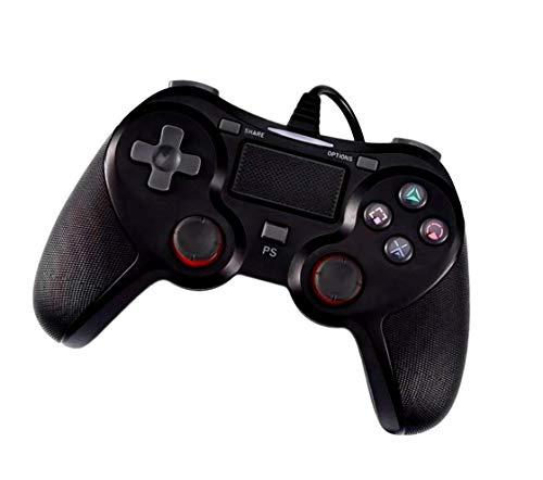NAGAPO(ナガポ) PS4 コントローラー 互換品 PS3 PC 対応 有線 USB ケーブル ブラック プレステ4