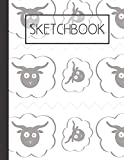 Counting Sheep pattern Sketchbook: 200 Page Sketchbook: Artist Edition (8.5x11)