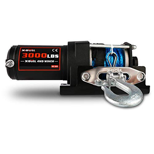 X-BULL 12V 3000LBS/1361KGS Electric Winch Synthetic Rope 10Meter Wireless ATV 4WD