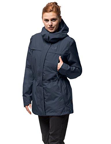 Jack Wolfskin Damen Fairway Jacket Winterjacke Wasserdicht Winddicht Atmungsaktiv Wetterschutzjacke, Midnight blau, XXL