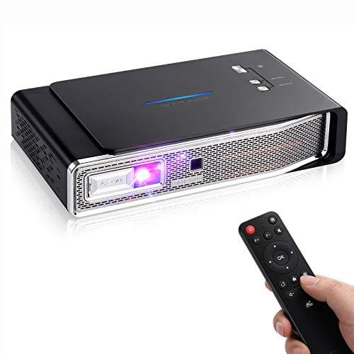 OTHA Mini Projektor, Mini Beamer, 4K Full HD Videoprojektor 3800 Lumen,1280x800,Tragbarer Android DLP Link 3D Home Theater Projektoren, Unterstützt USB IR HDMI AV