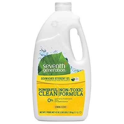 Seventh Generation Dishwasher Detergent Gel, Lemon Scent, 42 oz (Pack of 6)