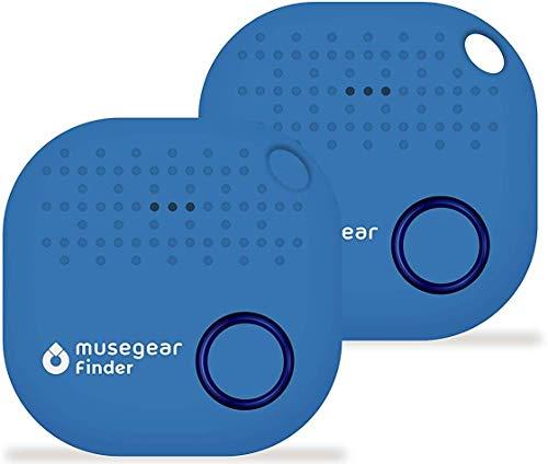 musegear Schlüsselfinder mit Bluetooth App aus Deutschland I Maximaler Datenschutz I hellblau 2er Pack I Schlüssel Finden