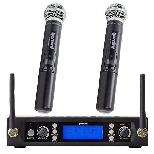 Gemini - Micrófono de audio profesional ligero con receptor UHF